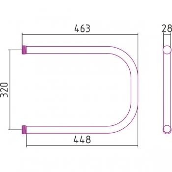 Полотенцесушитель водяной Стилье П-образный 320х450