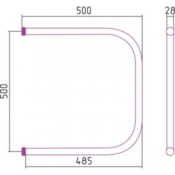 Полотенцесушитель водяной Стилье П-образный 500х500