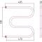Полотенцесушитель водяной Стилье М-образный 500х500 резьба-cгон 1