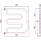 Полотенцесушитель водяной Стилье Тандем 500х500 резьба-cгон 1