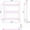 Полотенцесушитель водяной Стилье Версия-Б1 500х500