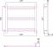 Полотенцесушитель водяной Стилье Версия-Б1 500х600 00611-5060