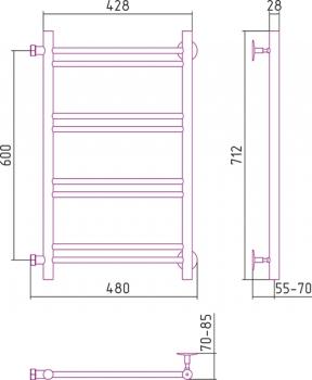 Полотенцесушитель водяной Стилье Версия-Б1 600х400 00611-6040