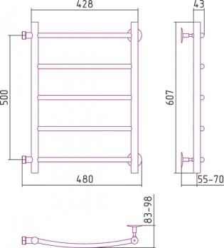 Полотенцесушитель водяной Стилье Версия-Б2 500х400