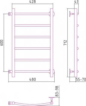Полотенцесушитель водяной Стилье Версия-Б2 600х400