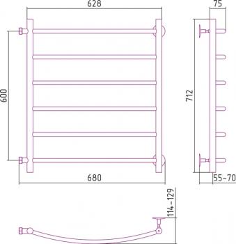 Полотенцесушитель водяной Стилье Версия-Б2 600х600