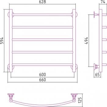 Полотенцесушитель водяной Стилье Версия-Н2 600х600