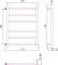 Полотенцесушитель водяной Стилье Версия-Б 600х500