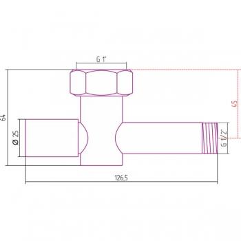 Вентиль запорный Стилье (круглый) G 1