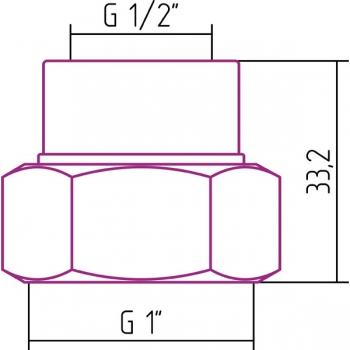 Комплект фитингов Стилье прямой G 1