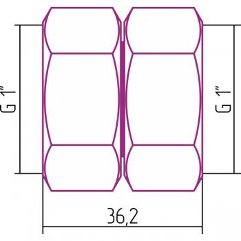 Комплект соединительный Стилье прямой G 1