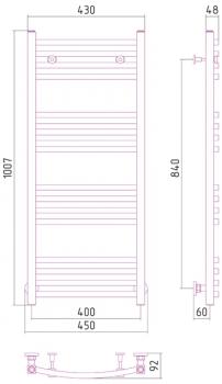 Полотенцесушитель водяной Сунержа Аркус 1000х400 с защитой