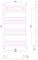 Полотенцесушитель водяной Сунержа Аркус 1200х600 с защитой