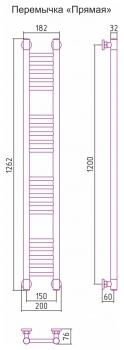 Полотенцесушитель водяной Сунержа Богема+ прямая 1200х150 с защитой