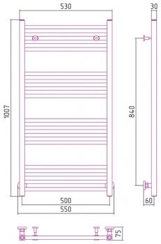 Полотенцесушитель водяной Сунержа Модус 1000х500 с защитой