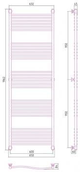 Полотенцесушитель водяной Сунержа Флюид+ 1900х600 с защитой
