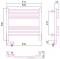 Полотенцесушитель электрический Сунержа Богема 2.0 выгнутая 500х500