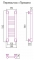 Полотенцесушитель водяной Сунержа Богема+ прямая 500х150 с защитой
