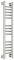 Полотенцесушитель водяной Сунержа Богема+ прямая 800х150 с защитой