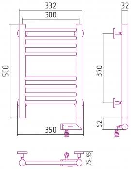 Полотенцесушитель электрический Сунержа Богема 2.0 прямая 500х300