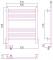 Полотенцесушитель электрический Сунержа Богема 2.0 прямая 600х500