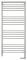Полотенцесушитель электрический Сунержа Богема с полкой 2.0 1200х500