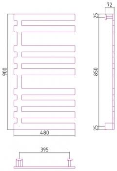 Полотенцесушитель электрический Сунержа Космополит 17 900х480