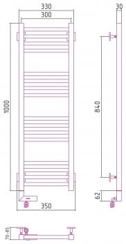 Полотенцесушитель электрический Сунержа Модус 2.0 1000х300