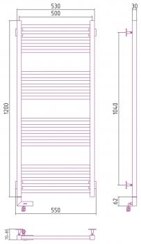 Полотенцесушитель электрический Сунержа Модус 2.0 1200х500