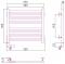 Полотенцесушитель электрический Сунержа Модус 2.0 500х500