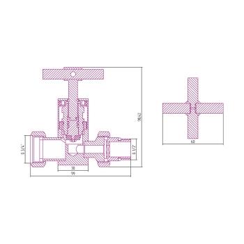 Вентиль прямой Сунержа крест G 1/2