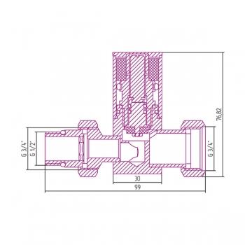 Вентиль прямой Сунержа цилиндр G 1/2