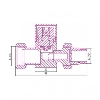 Вентиль прямой Сунержа под шестигранник G 1/2