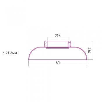 Отражатель декоративный Сунержа d 21,3 мм