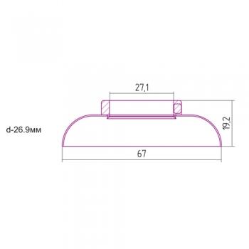 Отражатель декоративный Сунержа d 26,9 мм
