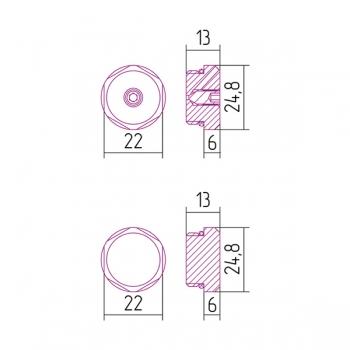 Клапан спускной Сунержа с заглушкой d 25 мм G 1/2