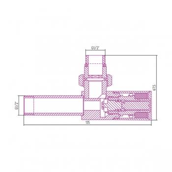 Вентиль угловой Сунержа цилиндр G 1/2