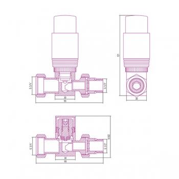 Терморегулятор автоматический прямой Сунержа G 1/2