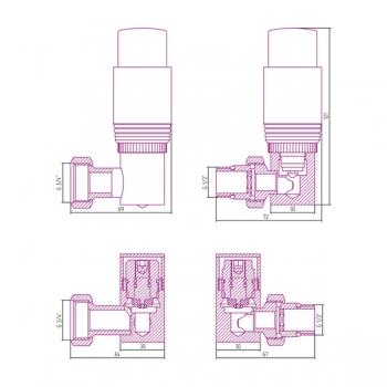 Терморегулятор автоматический 3D правый Сунержа G 1/2