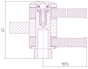 Полотенцедержатель Сунержа 360 L 200х2