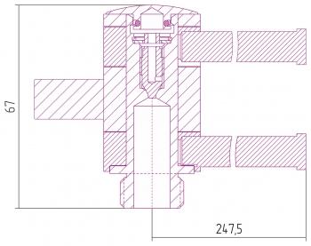 Полотенцедержатель Сунержа 360 L 250х2