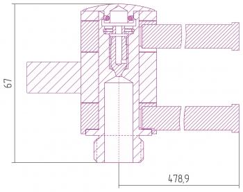 Полотенцедержатель Сунержа 360 L 500х2